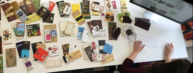 Mesa de chocolates da Zelia