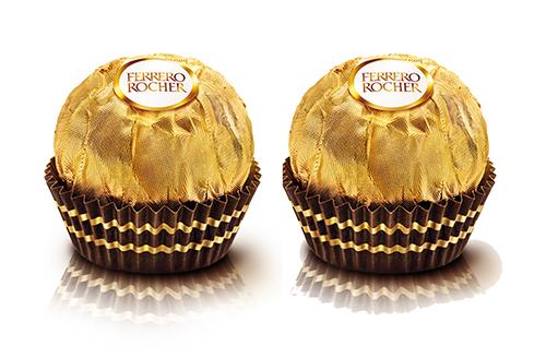 2 bombons Ferrero Rocher