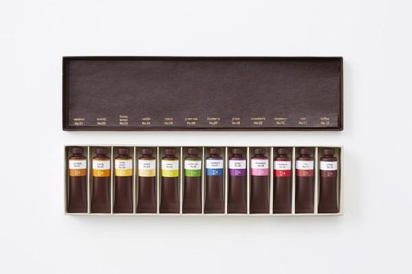 Nendo - chocolate paint Seibu department store Designboom