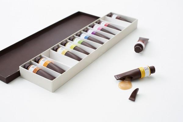 Nendo - chocolate paint Seibu department store