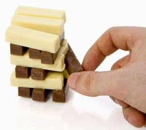 Chocolate Stacks (jogo tipo Jenga com chocolates)