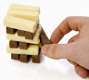 Chocolate Stacks (jogo tipo Jenga com chocolates)