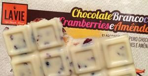 La Vie en Douce - chocolate branco com cramberrie e amêndoas
