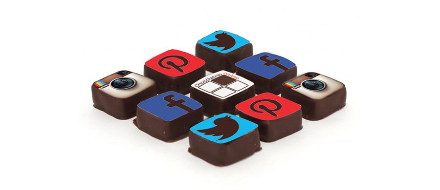 Chocólatras online - nas redes sociais