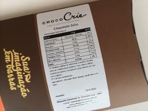 Choco Crie  etiqueta de inform. nutricionais e ingredientes