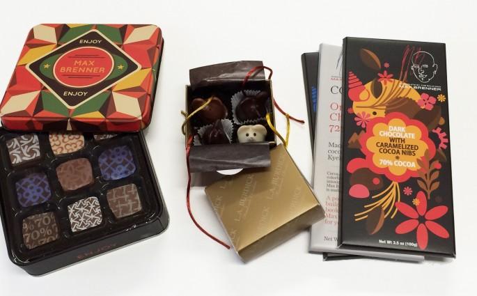 chocolates Max Brenner e LA Burdick
