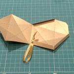 molde de caixinha de estrela de natal
