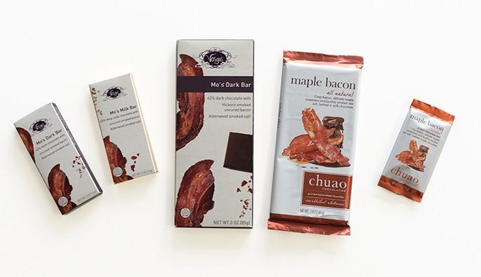 5 tabletes de Chocolates com bacon