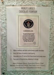 Jean Philippe Guinness World Records Maior Cascata de chocolate do mundo