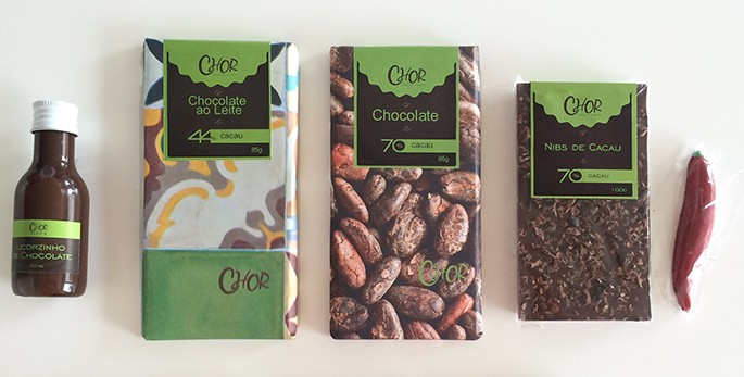 ChOr Chocolate de Origem - barras, licor e pimentinha