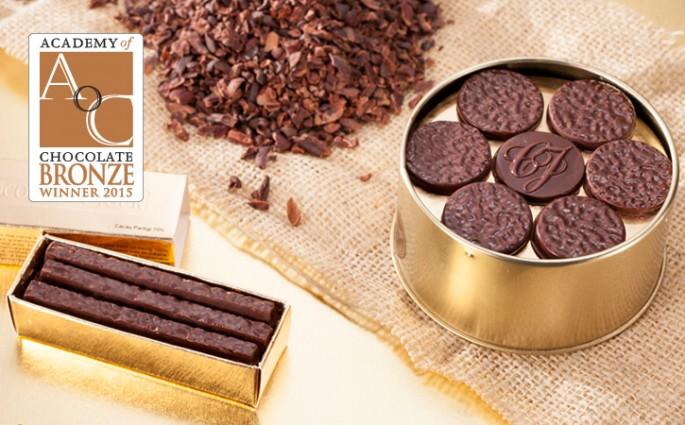 Pratigi da Chocolat du Jour premiado Academy of Chocolate