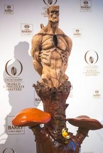 escultura de chocolate de Diego Lozano - Brasil - World Chocolate Masters 2015