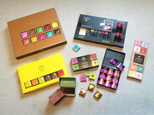 chocolates quadradinhos variados