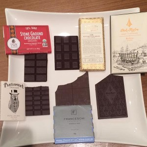 Chocolates bean to bar Taza, Dandelion, Dick Taylor, Parliament e Franceschini,