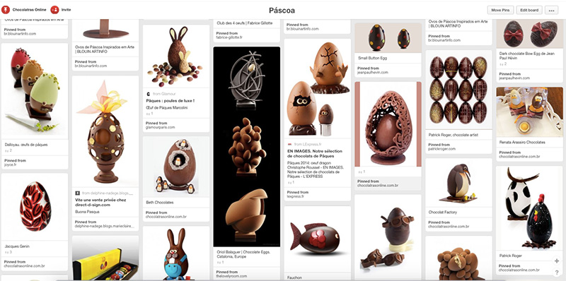 Pinterest Pascoa do Chocolatras Online