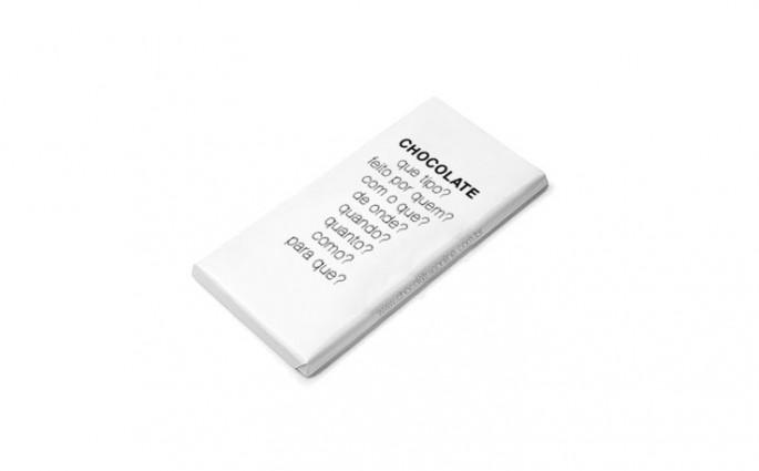 embalagem de chocolate em branco
