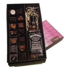 Chianti Chocommelier - Paquet Bourbon - Jack Daniels e 14 bombons com base amarga e castanhas