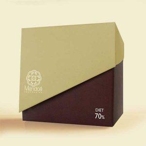 Mendoá chocolates - Cubo de mini tabletes individuais Diet