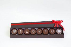 Vila Chocolat - Caixa com 8 bombons I love you