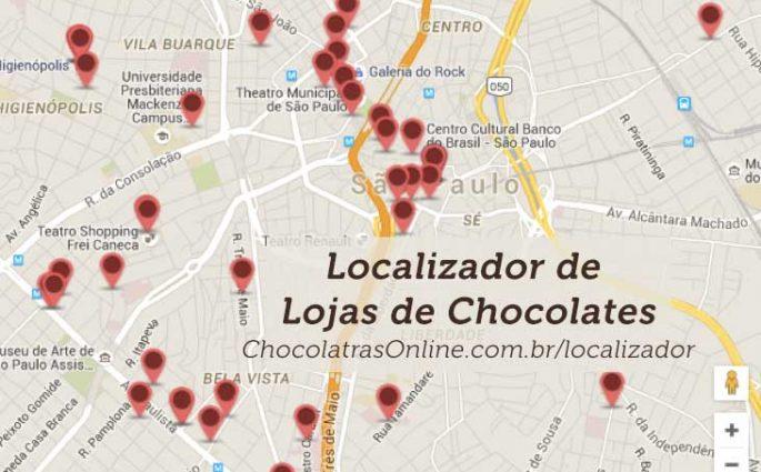 Localizador de lojas de chocolates