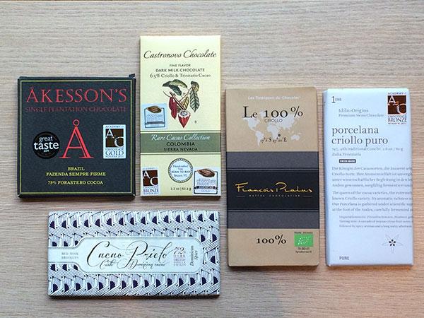 Chocolates premium que indicam a variedade do cacau