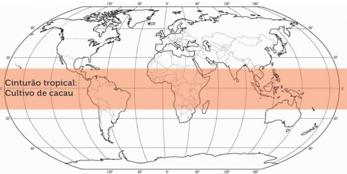 mapa do cacau