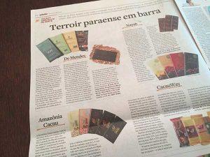 Caderno Paladar do jornal Estadão - matéria sobre chocolate e cacau do Pará