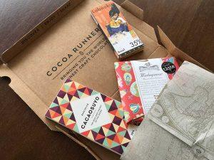 Compra de chocolate estrangeiro na Cocoa Runners