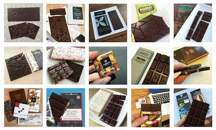 Chocolate Australia bombons derretidos no transporte internacional