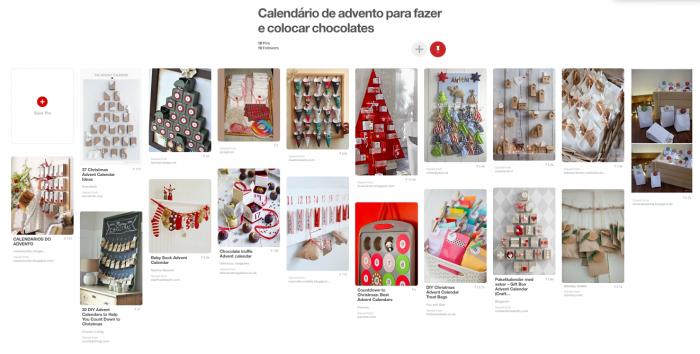 Pinterest - Calendário de Advento DIY