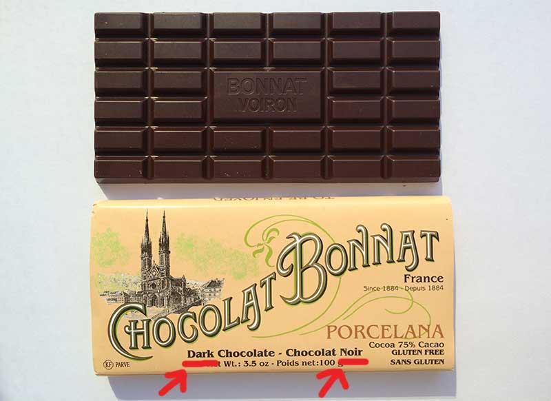 Dark Chocolate = Chocolat Noir = Chocolate Escuro