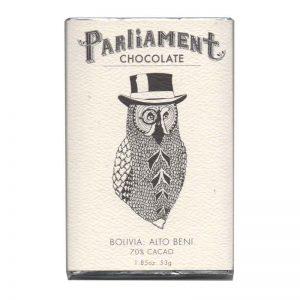 Parliament Chocolate - 70% cacau da Bolivia - Alto Beni