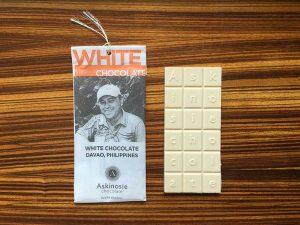 chocolate Askinosie - White Chocolate cacau Filipinas