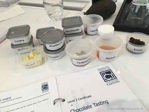 amostras de aromas
