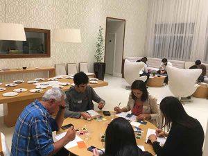 conversa informal entre chocolate makers no Premio Bean to Bar Brasil