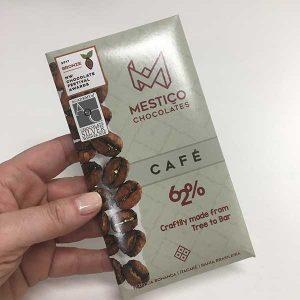 Mestiço chocolate 62% cacau com café