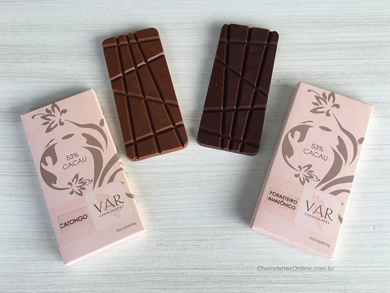 Var Chocolates - cacau catongo e forasteiro - 53% cacau