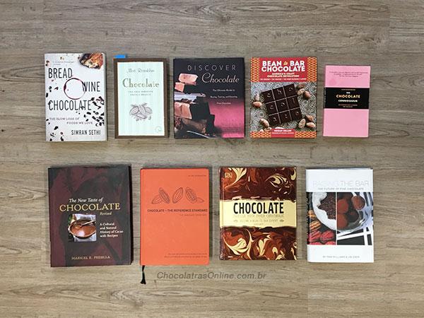 livros sobre chocolates - meus top 9