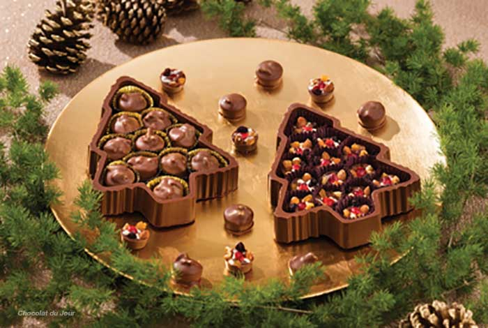Chocolat du Jour - árvore Gateau Noel