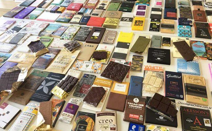mesa de chocolates do Chocólatras Online
