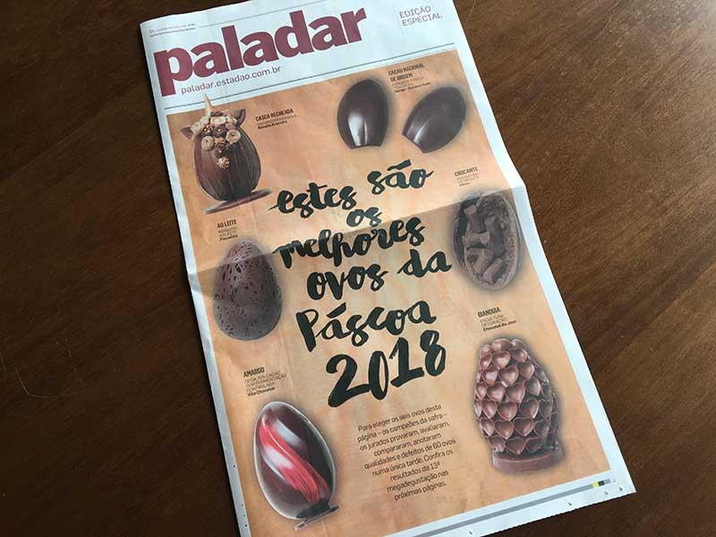 Ovos de Páscoa, os melhores de 2018 pelo Paladar