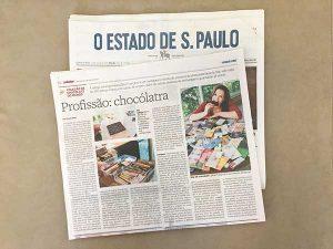 Matéria sobre Chocólatra no Paladar / Estadão