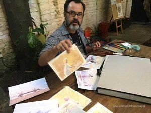 Sampaio, o ilustrador, no Bean to Bar Chocolate Week 2018