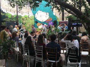 jardim do restaurante Nambu - palestras na Bean to Bar Chocolate Week 2018