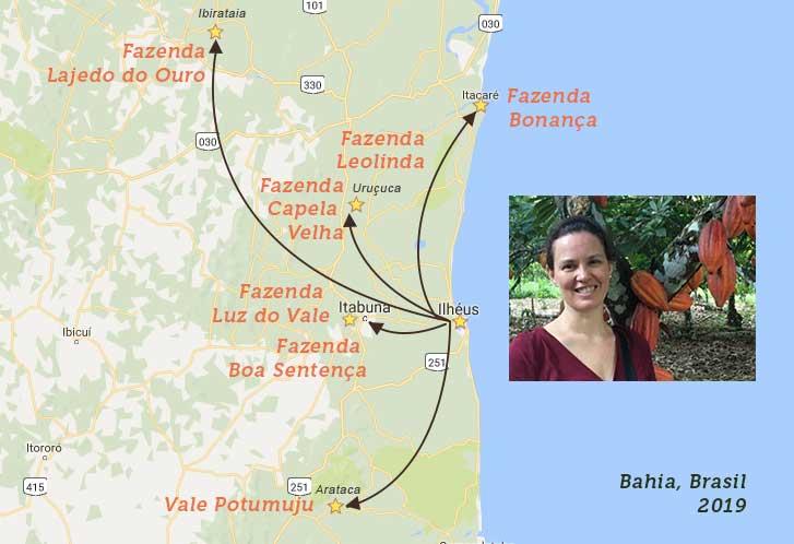 Visitas a fazendas de cacau- Zelia 2019