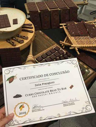 Curso Bean to Bar em-SP 2019 - cerificado