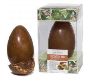 Gallette ovo de pascoa 65% cacau com crocante de baru