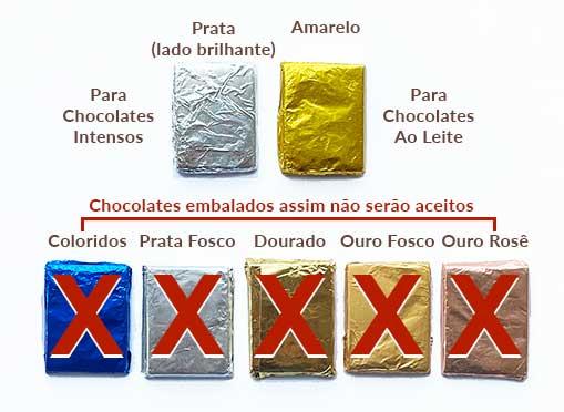 cores para papel chumbo usados nas amostras do Prêmio