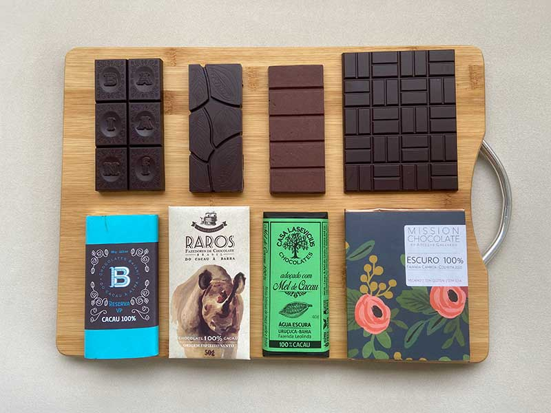 Chocolate 100% cacau: Baianí, Mission Chocolate, Raros e Casa Lasevicius