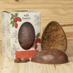 Gallette - Ovo de Páscoa Crocante de Macadamia e Coco Queimado